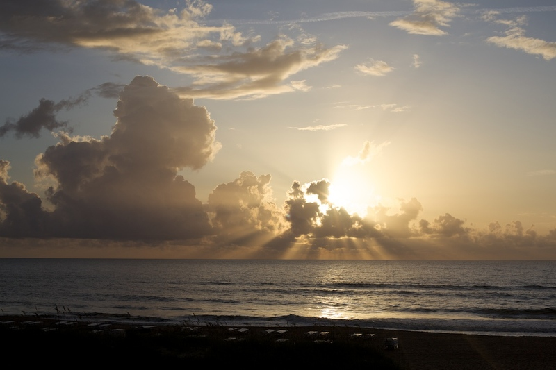Beach sunrise on Amelia Island
